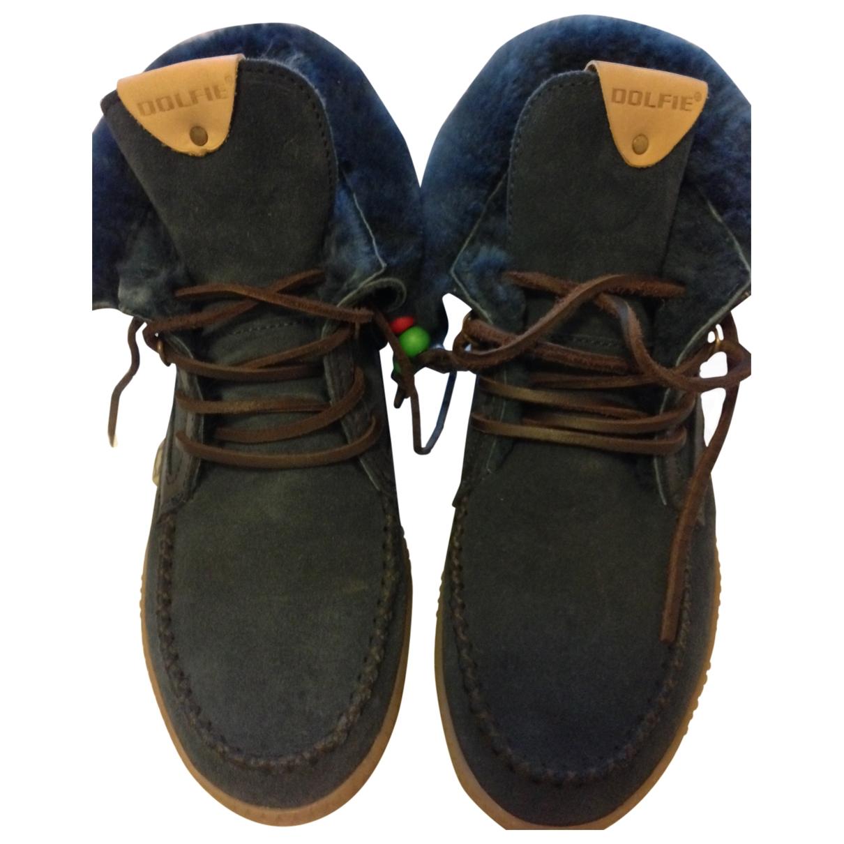 Dolfie - Boots   pour femme en suede - bleu