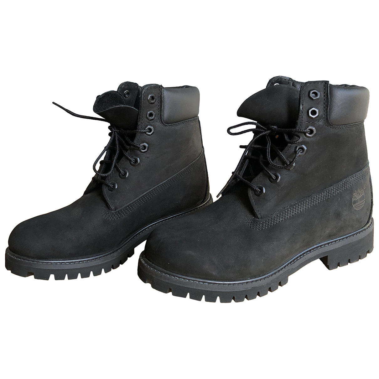 Timberland N Black Suede Boots for Men 7 UK