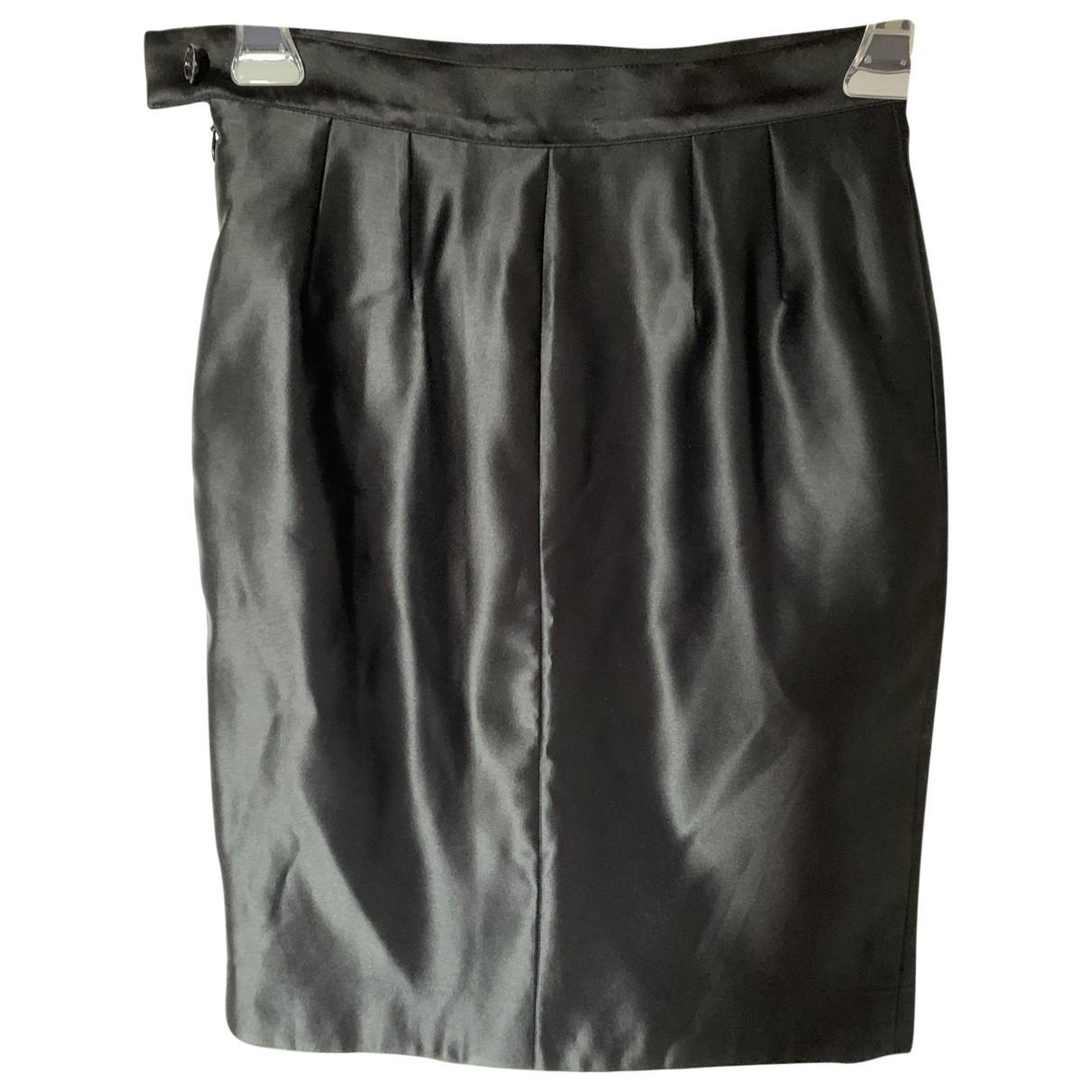 Yves Saint Laurent N Black Silk skirt for Women 42 IT