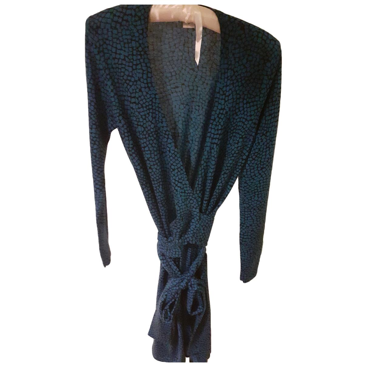 Diane Von Furstenberg - Robe   pour femme en laine - bleu