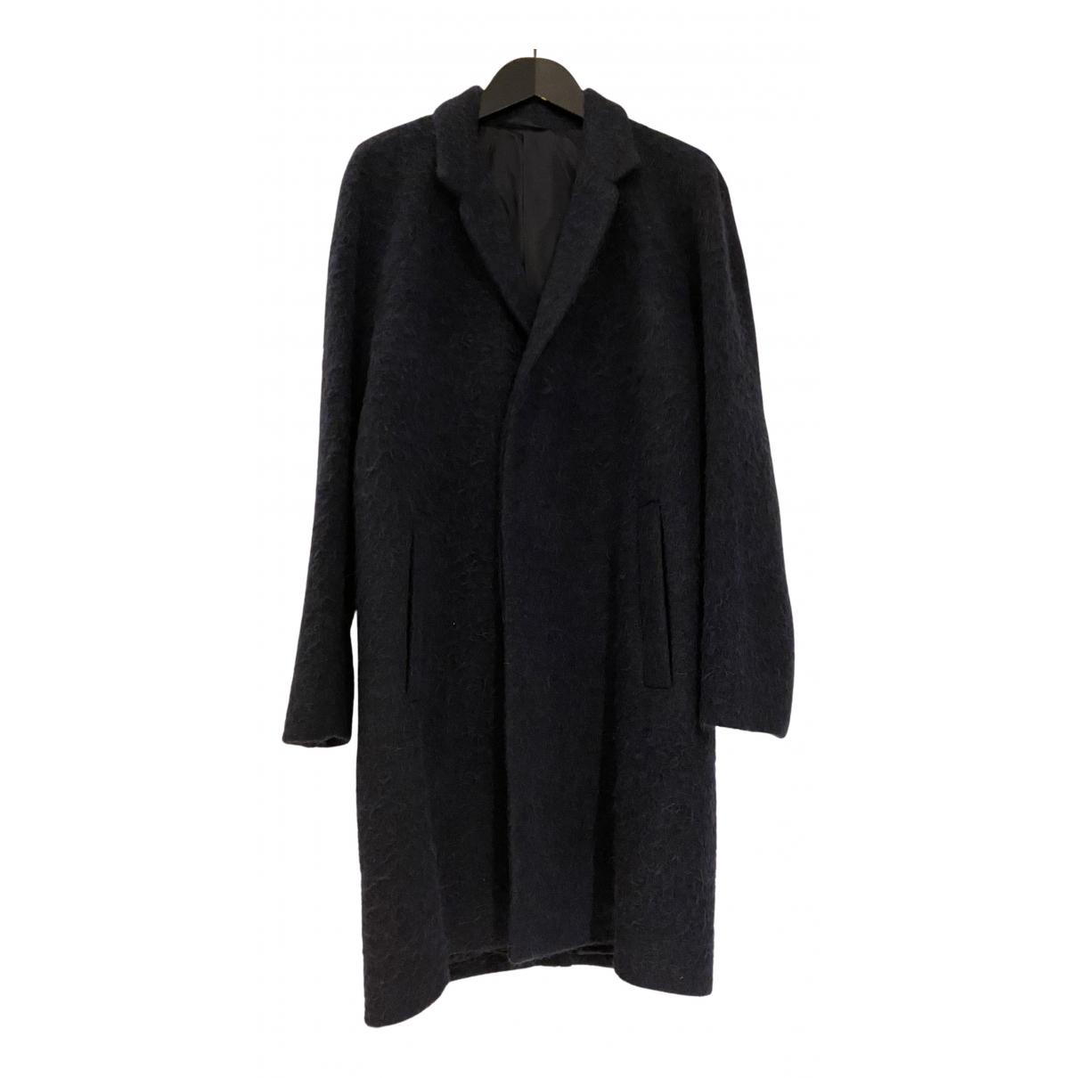 Cos - Manteau   pour homme en laine - bleu