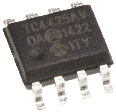 Microchip TC4425AVOA Dual Low Side MOSFET Power Driver, 4.5A 8-Pin, SOIC (2)