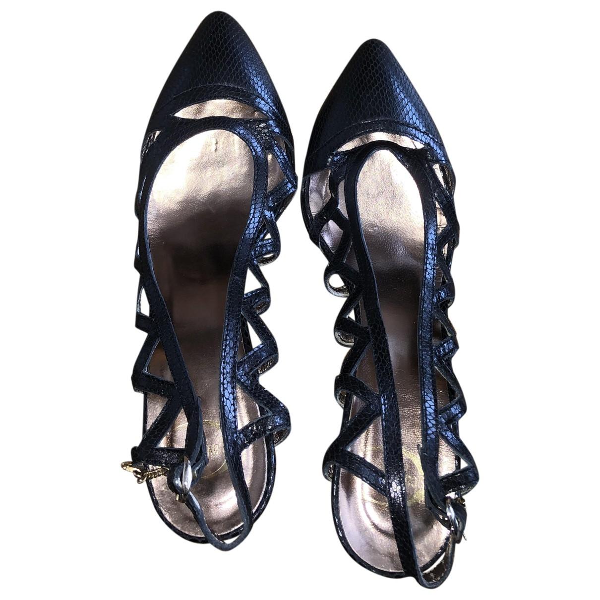 Just Cavalli - Sandales   pour femme en cuir - noir