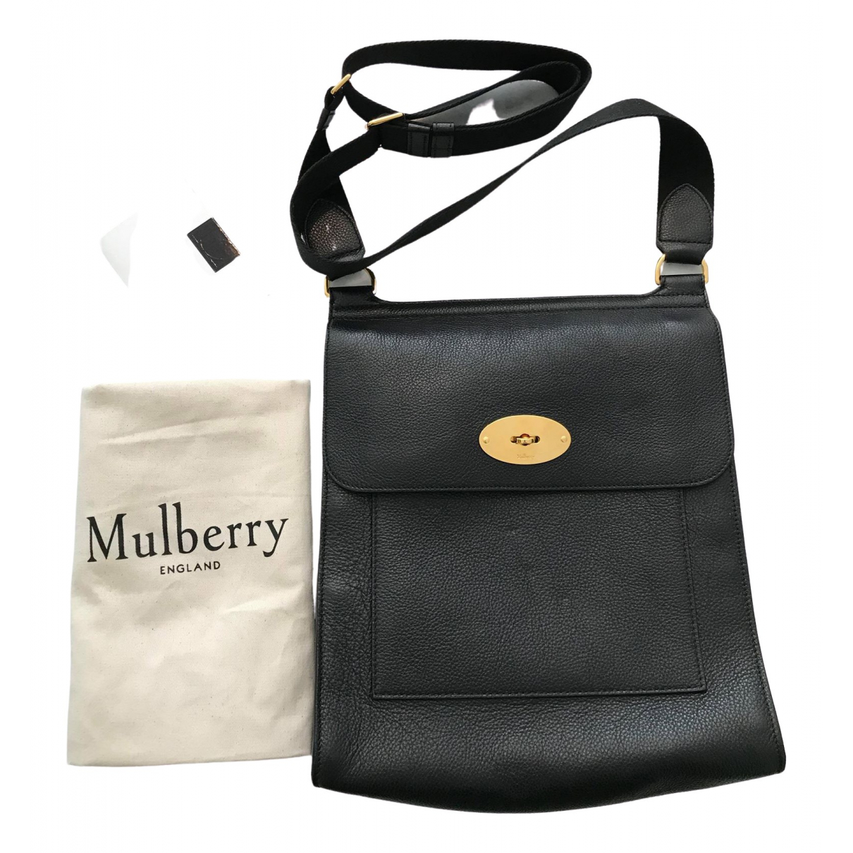 Mulberry Anthony Black Leather handbag for Women \N