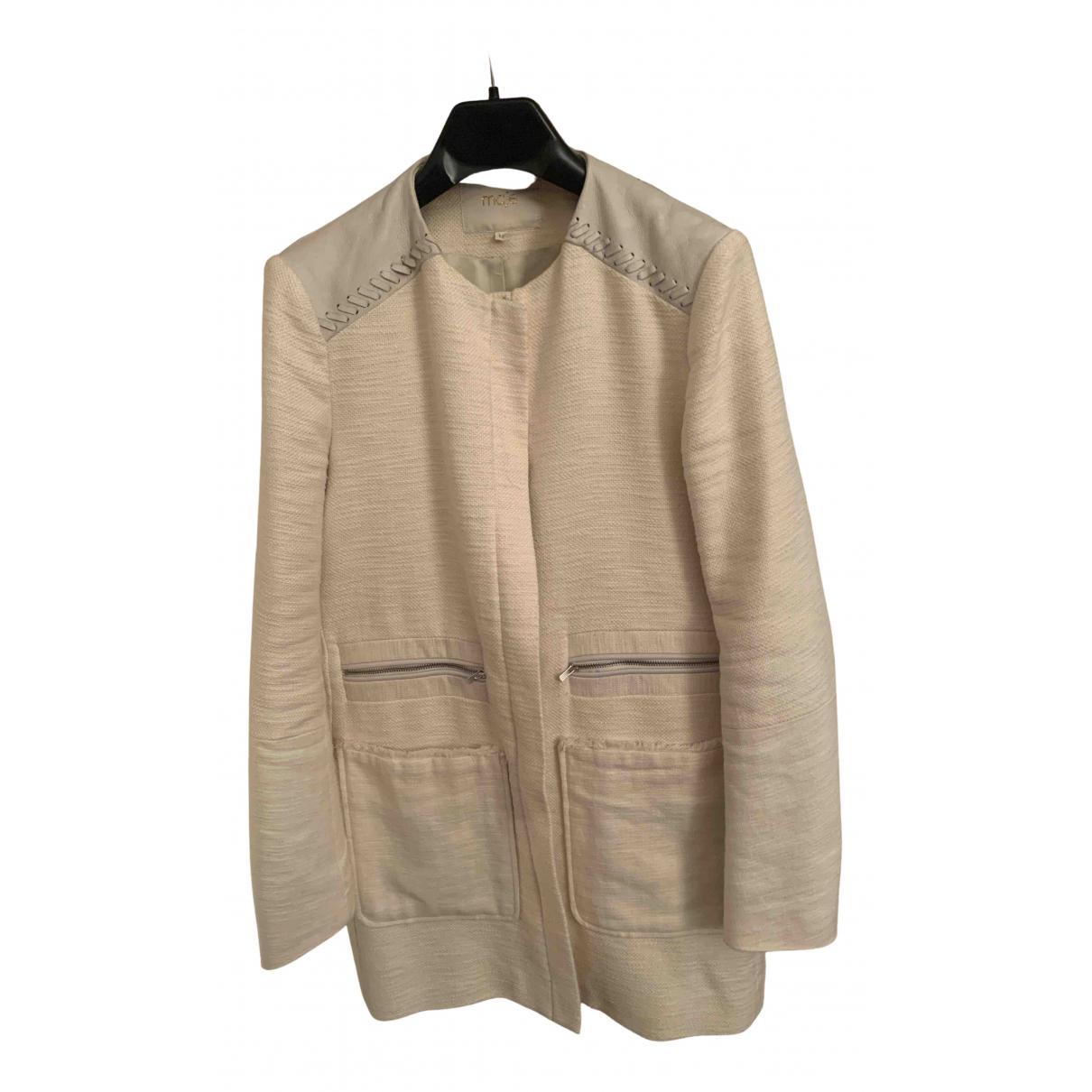 Maje - Manteau   pour femme en coton - ecru