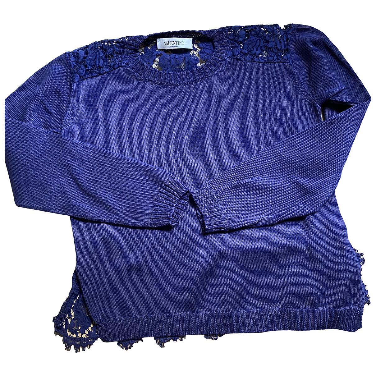 Valentino Garavani - Pull   pour femme en coton - bleu