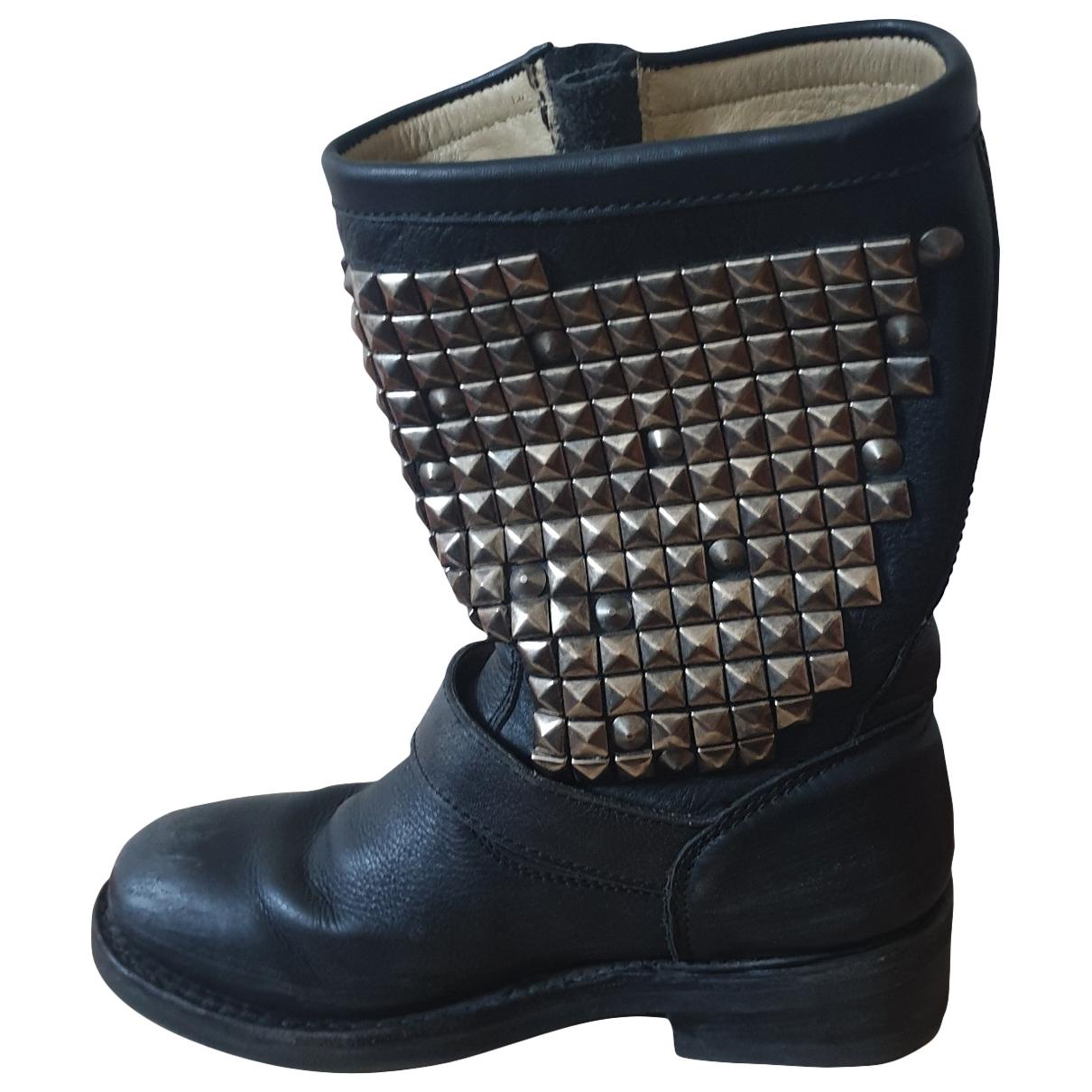 Ash \N Stiefel in  Schwarz Leder