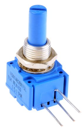 Bourns 1 Gang Rotary Cermet Potentiometer with an 6.35 mm Dia. Shaft - 10kΩ, ±10%, 2W Power Rating, Linear, Panel Mount