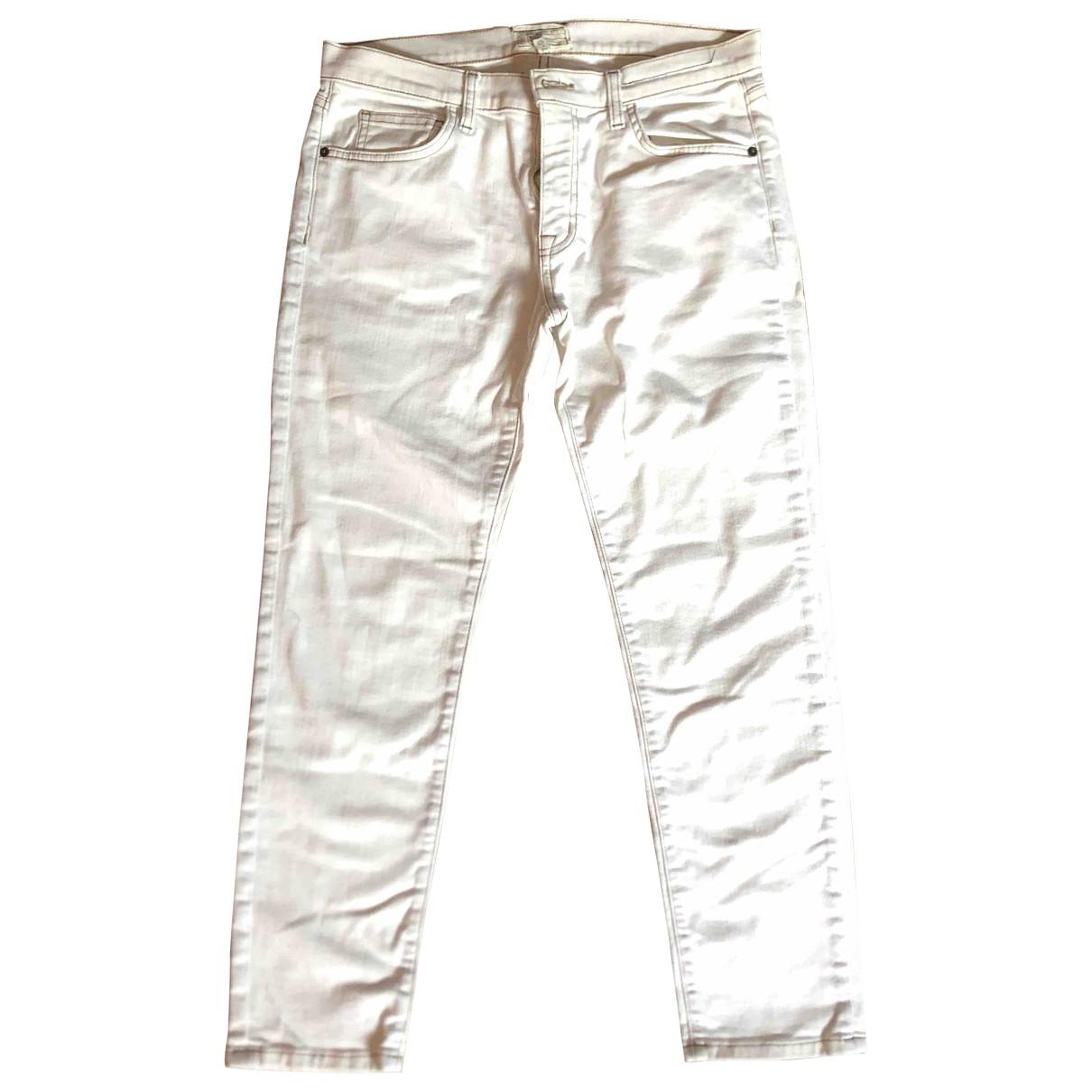 Current Elliott \N White Denim - Jeans Trousers for Women M International