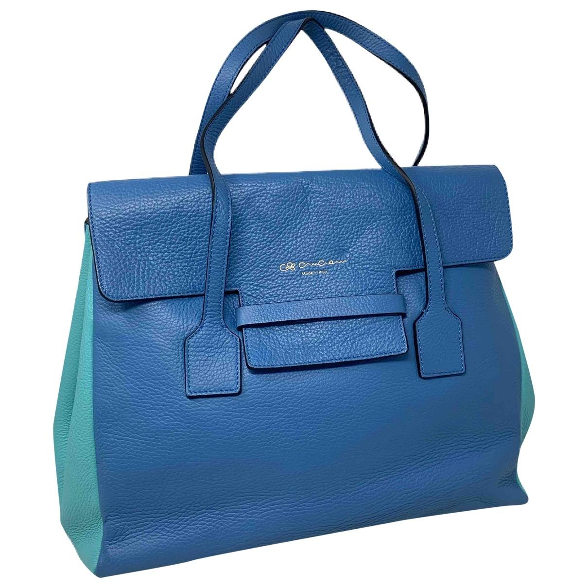 Cruciani - Sac a main   pour femme en cuir - bleu