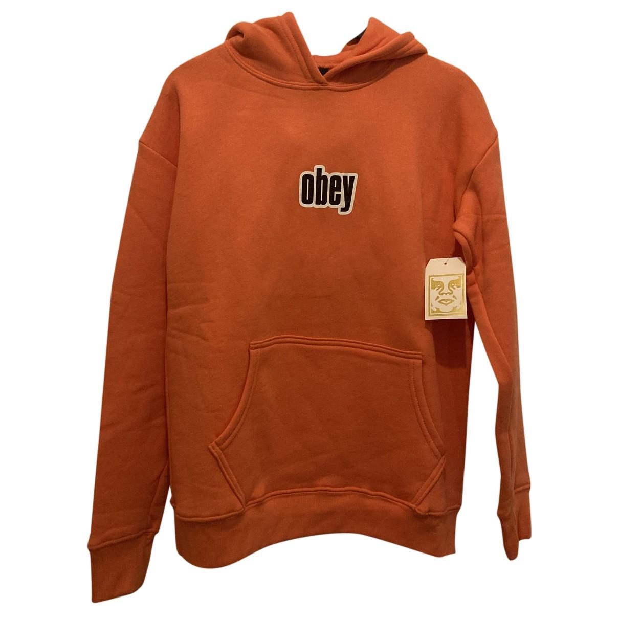Obey - Top   pour femme en coton - orange