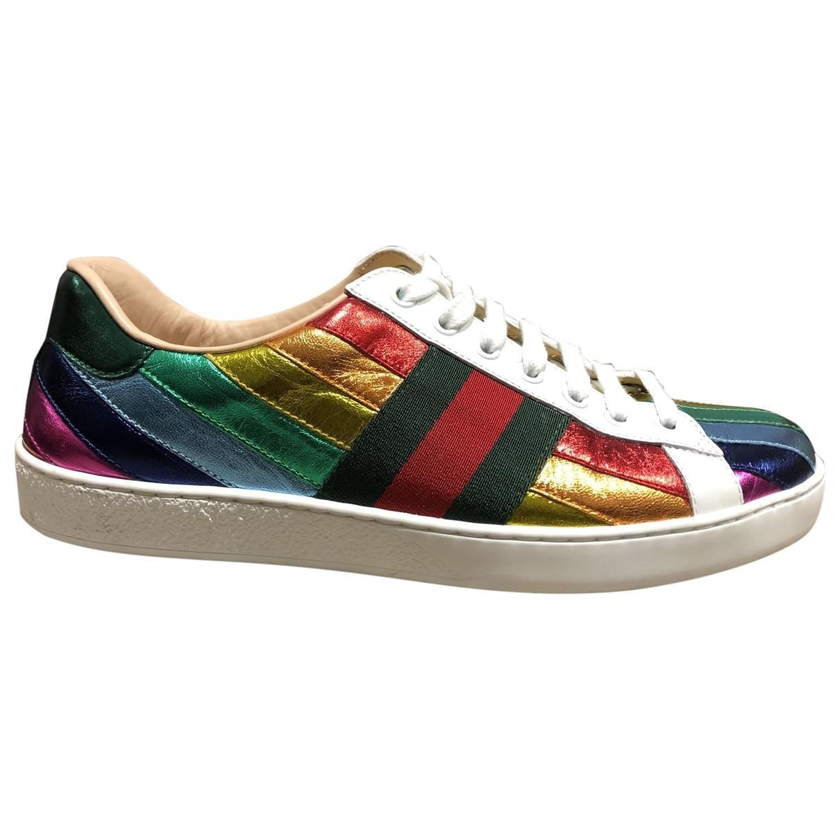 Gucci - Baskets Ace pour homme en cuir - multicolore