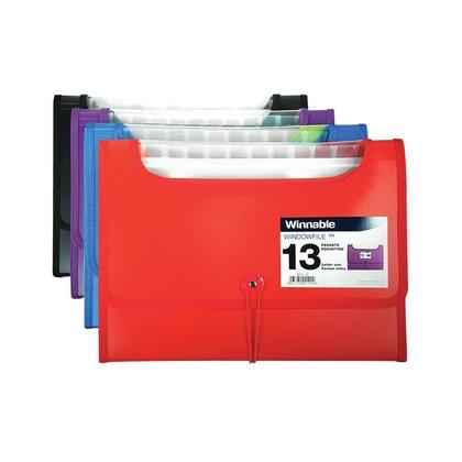 Winnable WindowFile 13 pochettes dextension, taille lettre, couleurs assorties