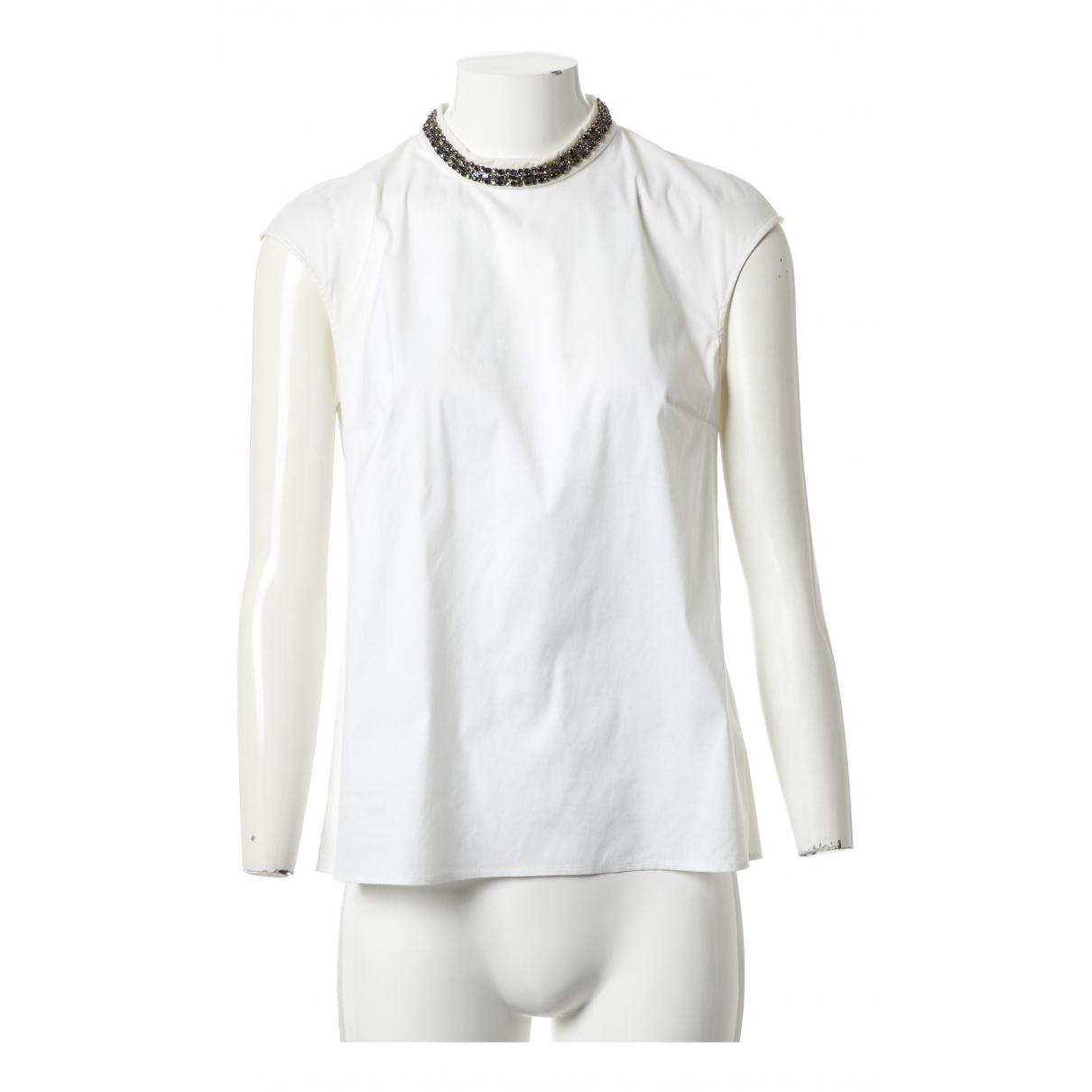 Prada N Ecru Cotton  top for Women 44 IT