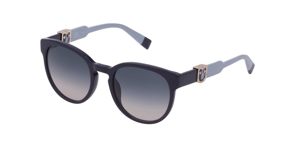 Furla SFU339 0991 Mens Sunglasses Blue Size 52