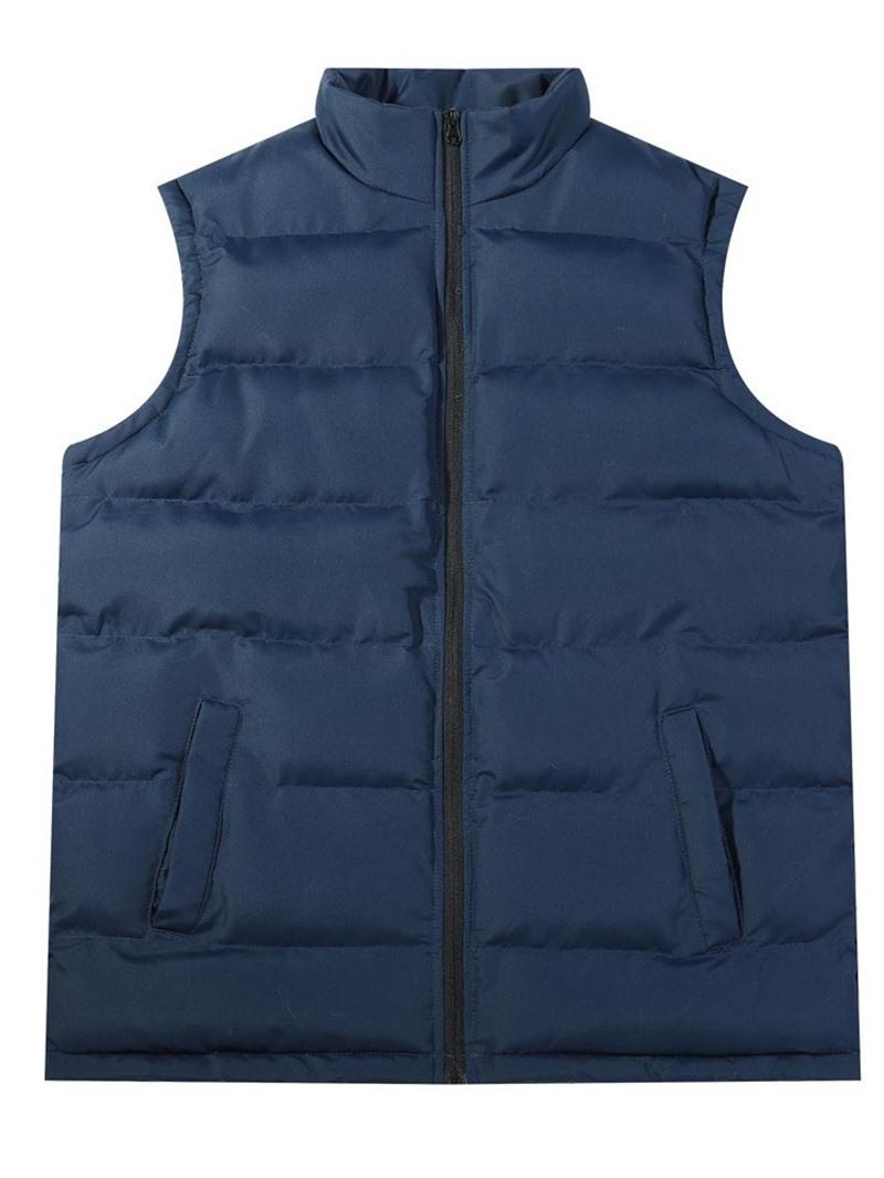 Ericdress Plain Thick Stand Collar Casual Zipper Men's Waistcoat