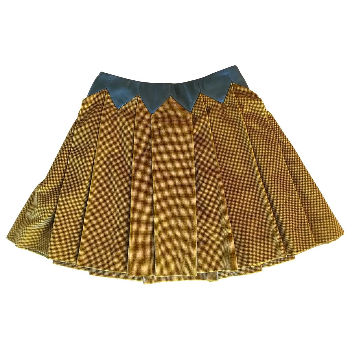 Kenzo \N Khaki Velvet skirt for Women 36 FR