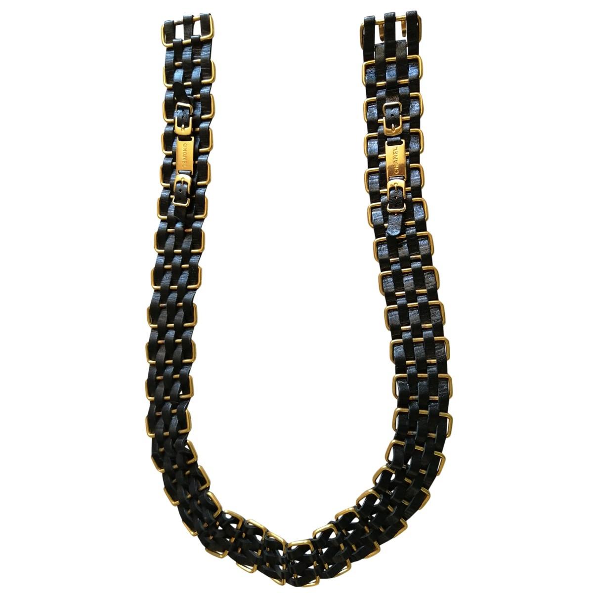 Chanel \N Black Leather belt for Women 85 cm