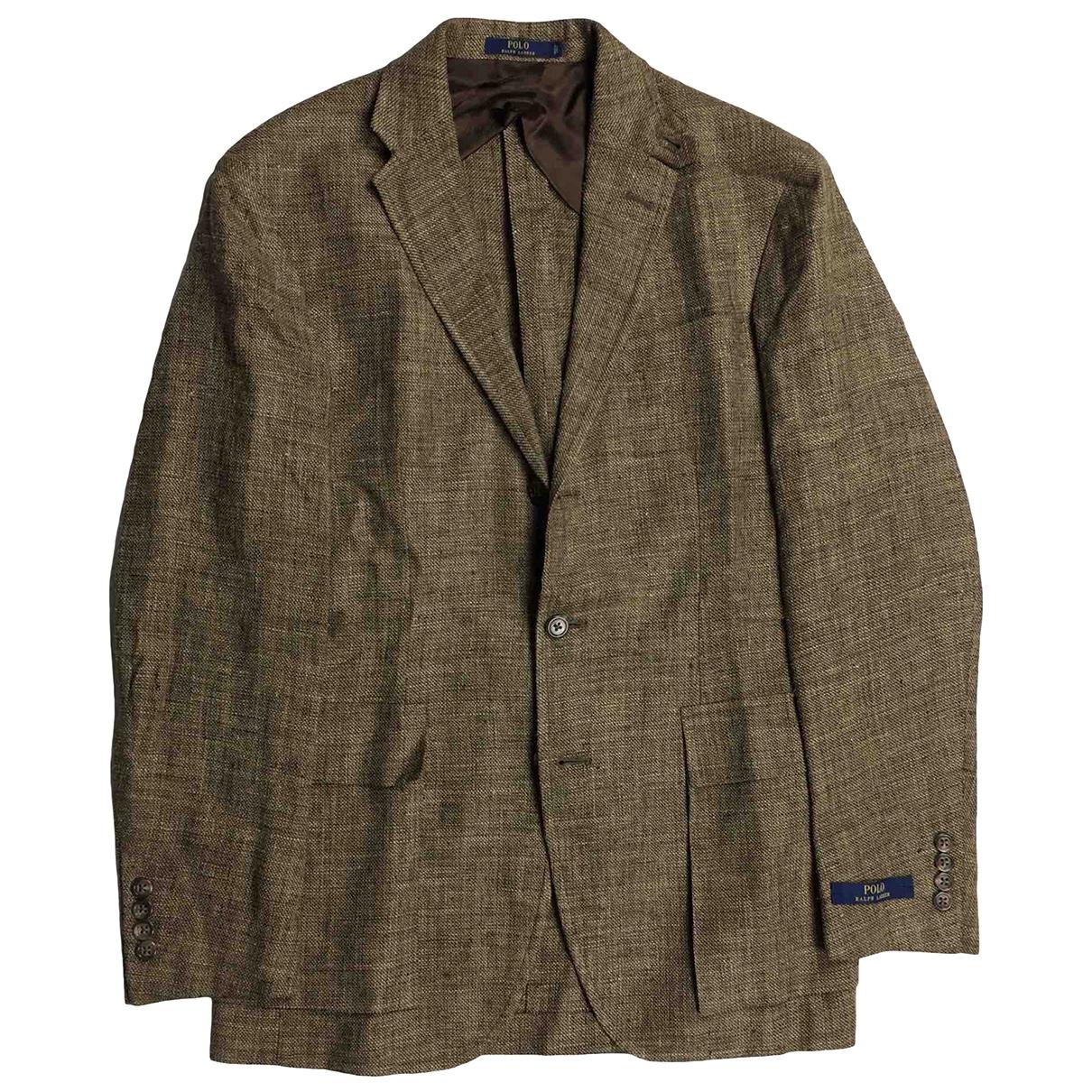 Polo Ralph Lauren \N Brown Silk jacket  for Men 38 UK - US