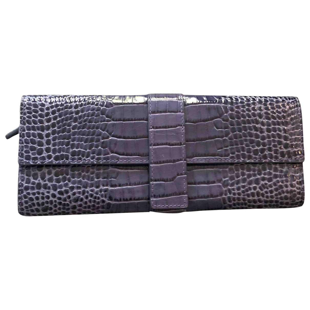 Aspinal Of London \N Blue Leather Purses, wallet & cases for Women \N