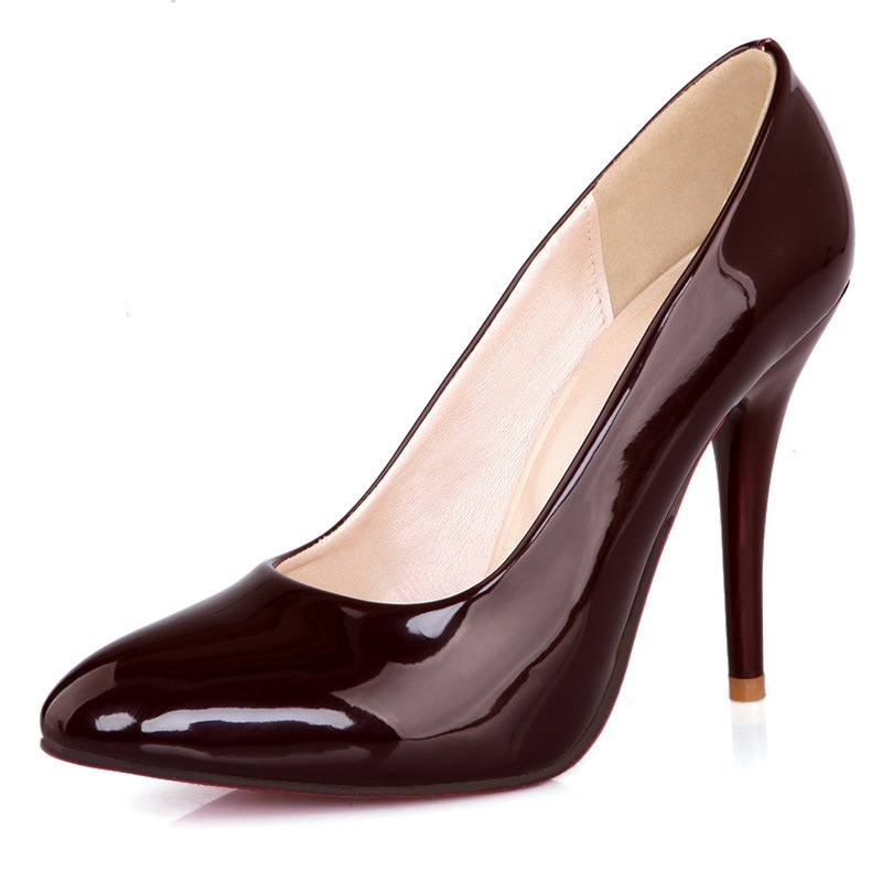 Ericdress Slip-On Pointed Toe Stiletto Heel Low-Cut Upper Thin Shoes