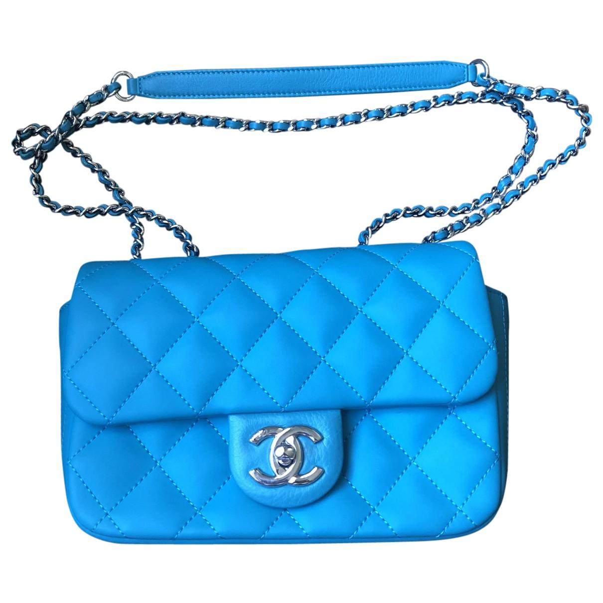Chanel - Sac a main Timeless/Classique pour femme - bleu