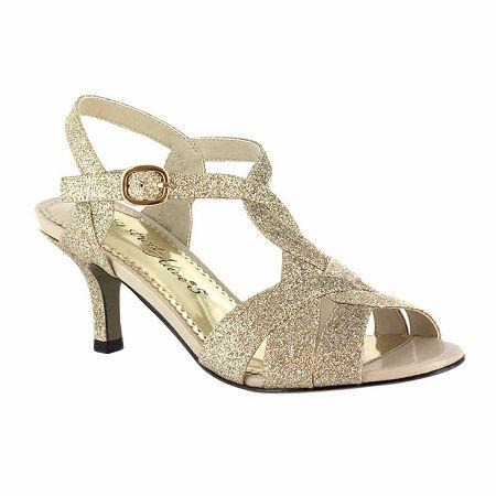 Easy Street Womens Glamorous Pumps Spike Heel, 8 1/2 Medium, Yellow