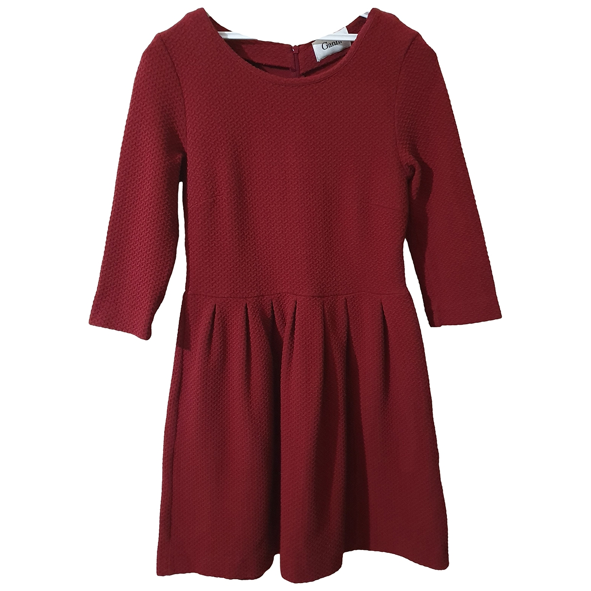 Ganni \N Kleid in  Bordeauxrot Baumwolle - Elasthan