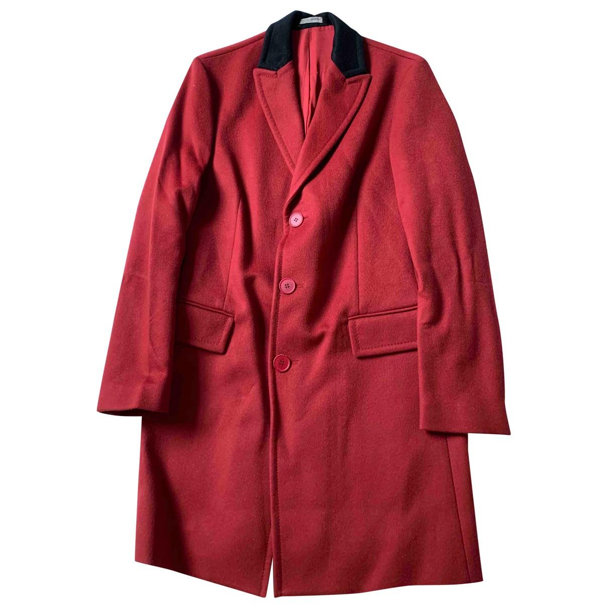 Bottega Veneta \N Red Wool coat  for Men 48 IT