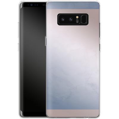 Samsung Galaxy Note 8 Silikon Handyhuelle - Serenity Rose Quartz Geometry von Emanuela Carratoni