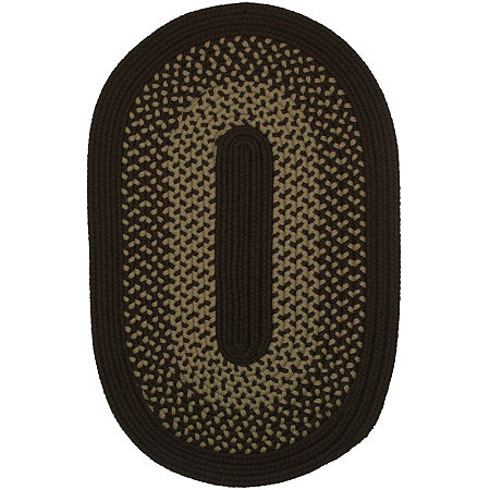 Colonial Mills Houston Reversible Braided Indoor/Outdoor Oval Rug, One Size , Brown