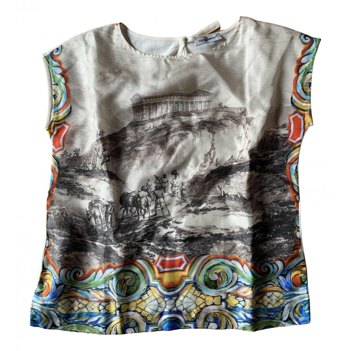 Dolce & Gabbana - Top   pour enfant en coton - ecru