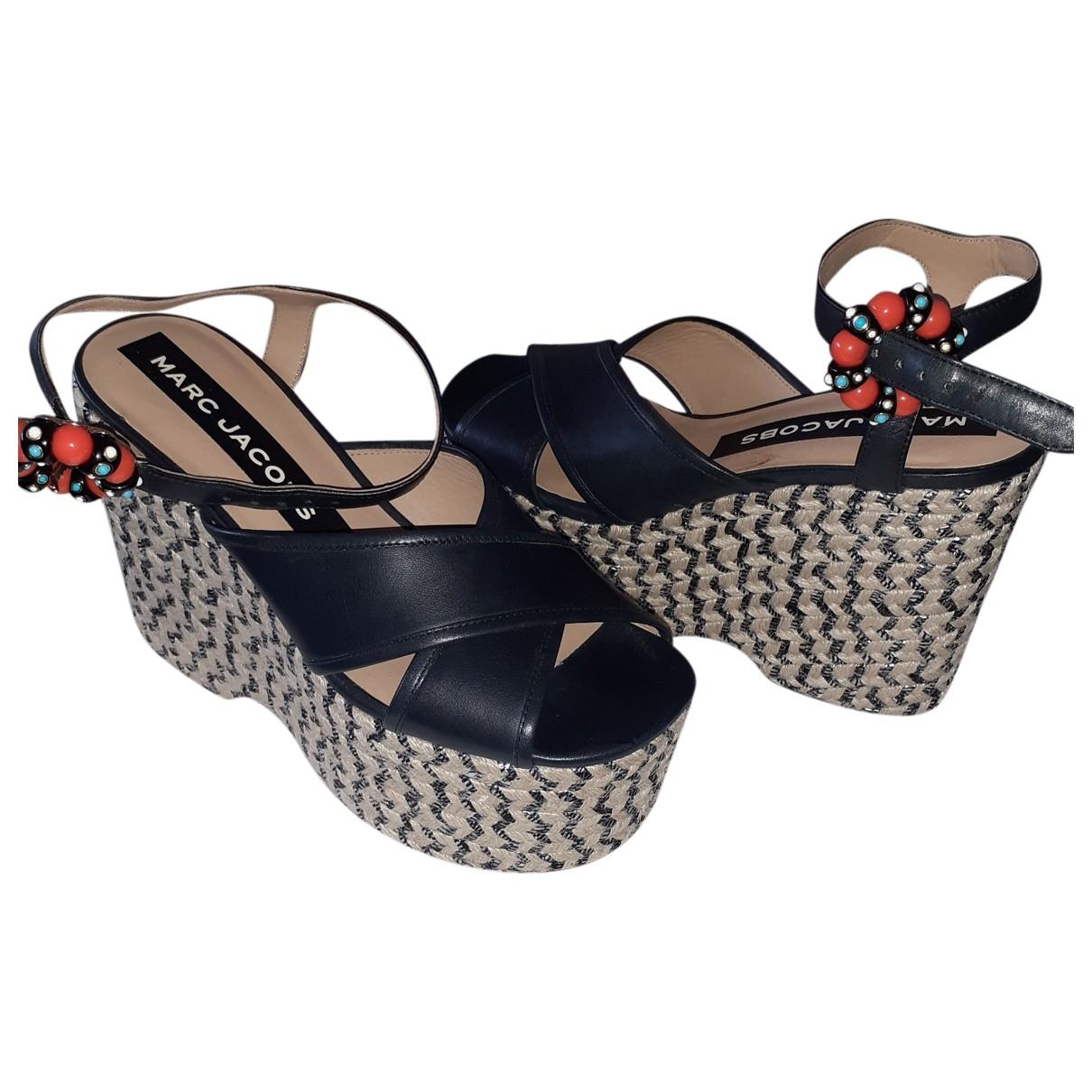 Marc Jacobs \N Black Leather Sandals for Women 38 EU