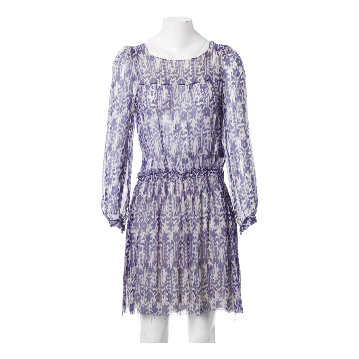 Isabel Marant Etoile \N Blue Silk dress for Women 1 0-5