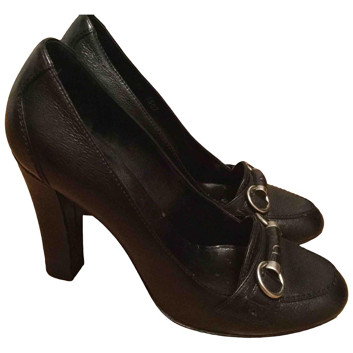 Dior \N Black Leather Heels for Women 36 EU