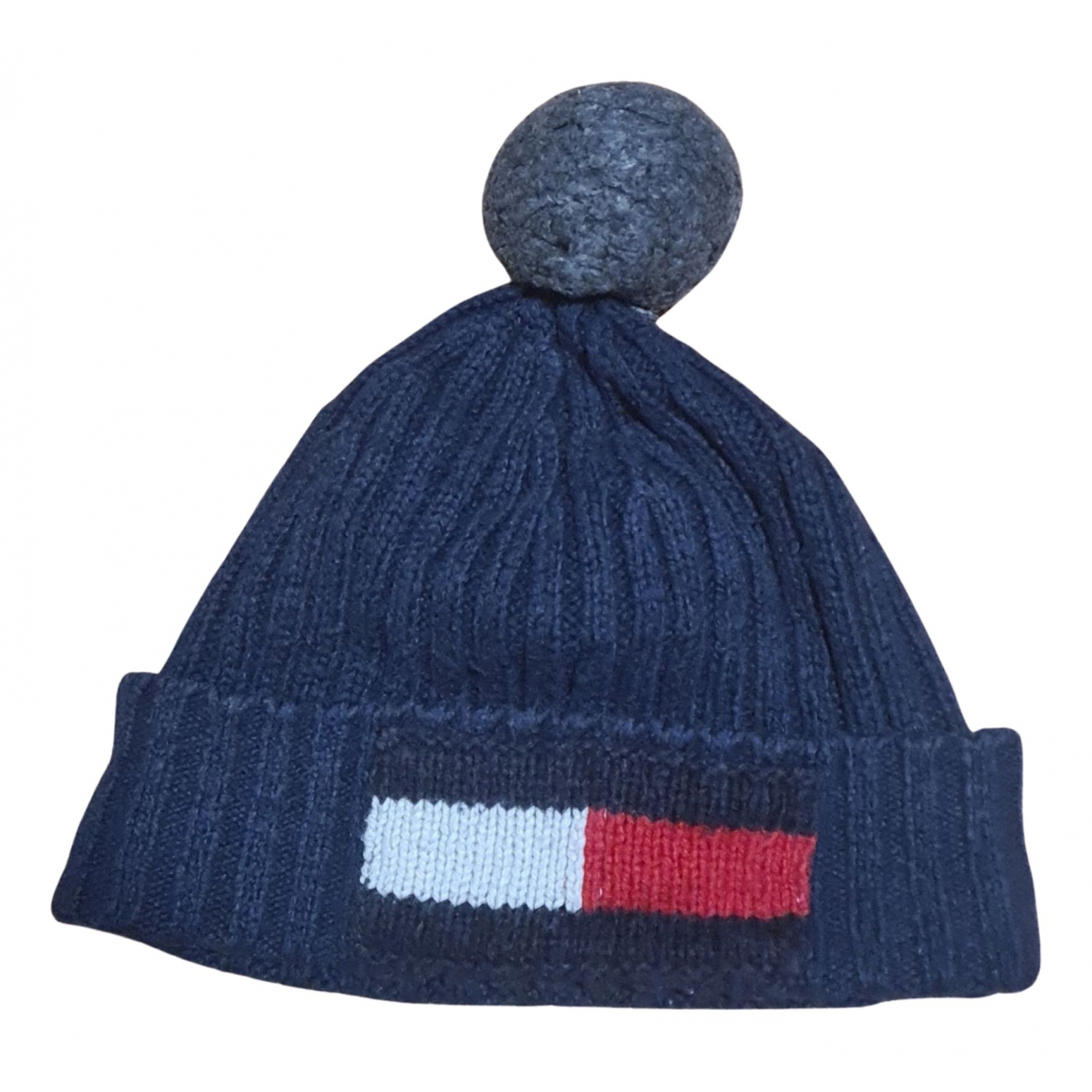 Tommy Hilfiger - Chapeau & Bonnets   pour homme en laine - bleu