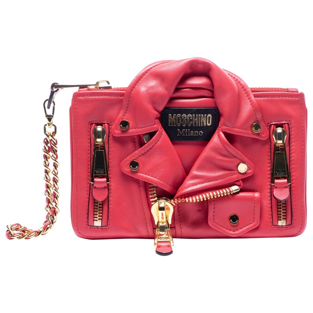 Moschino Biker Pink Leather Clutch bag for Women \N