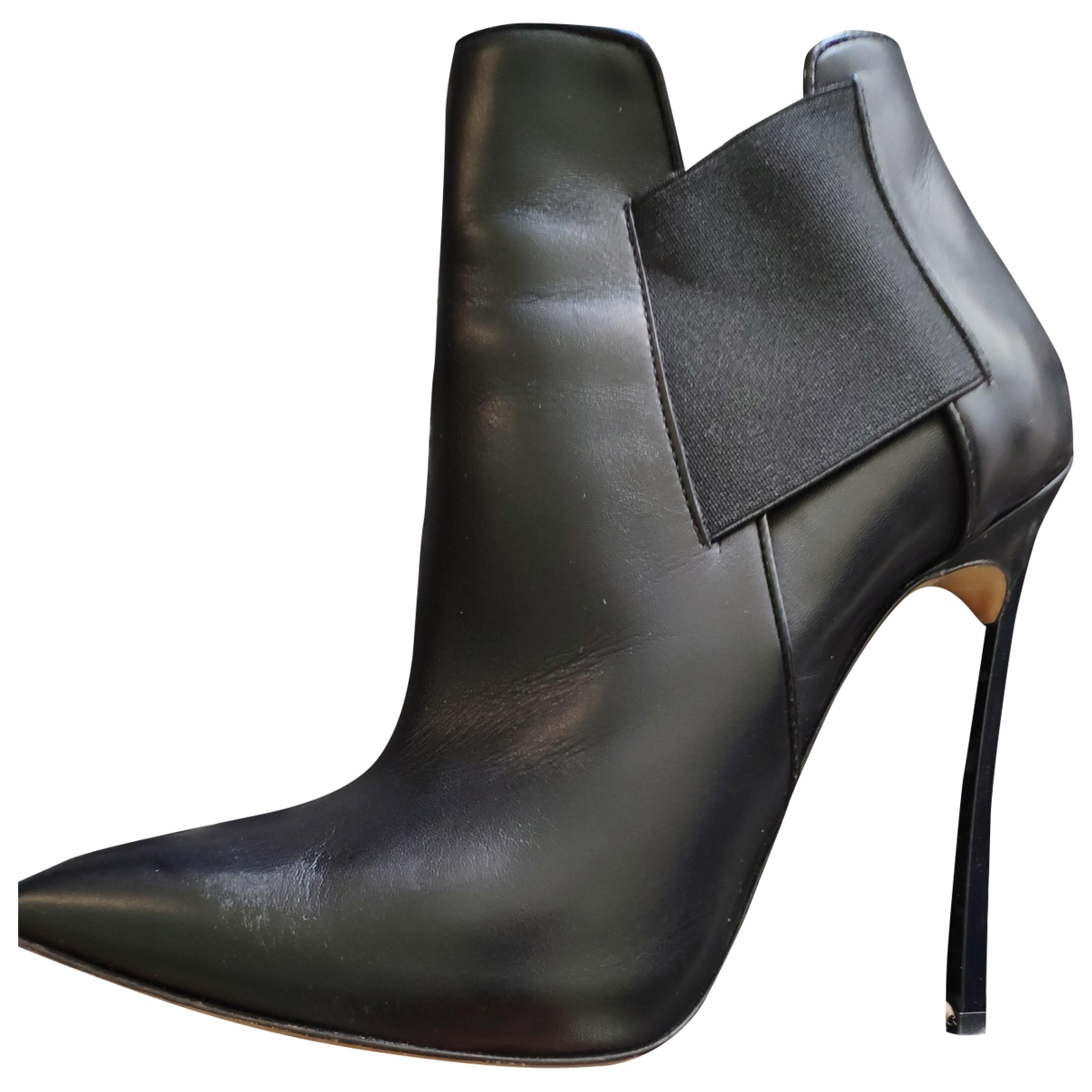 Casadei \N Black Leather Boots for Women 5 US