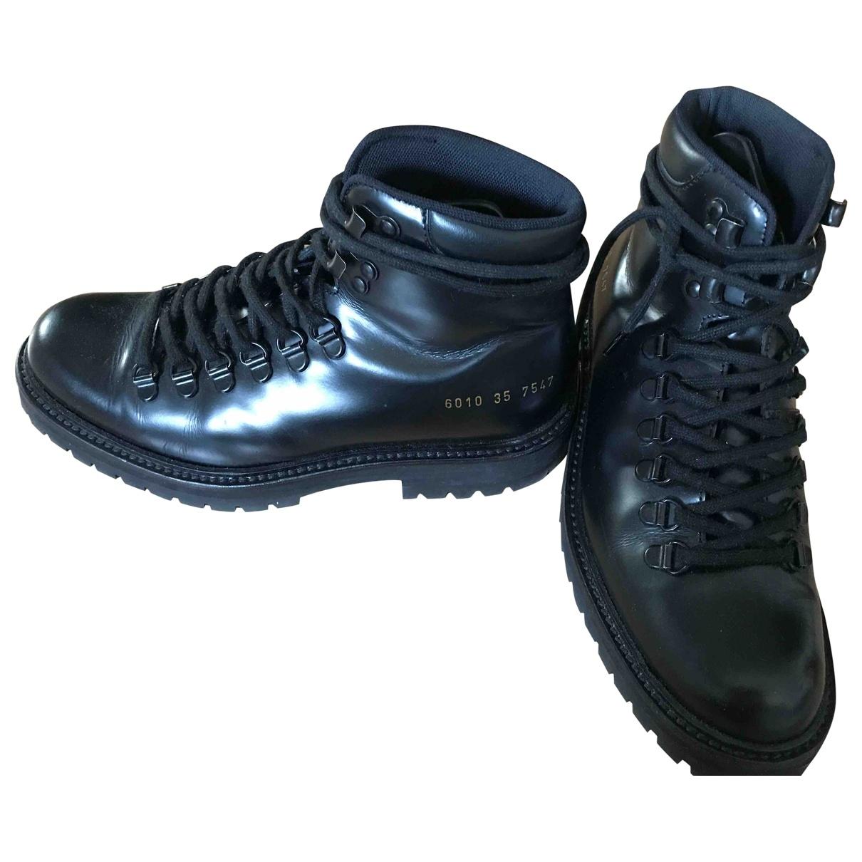Common Projects - Boots   pour femme en cuir - noir
