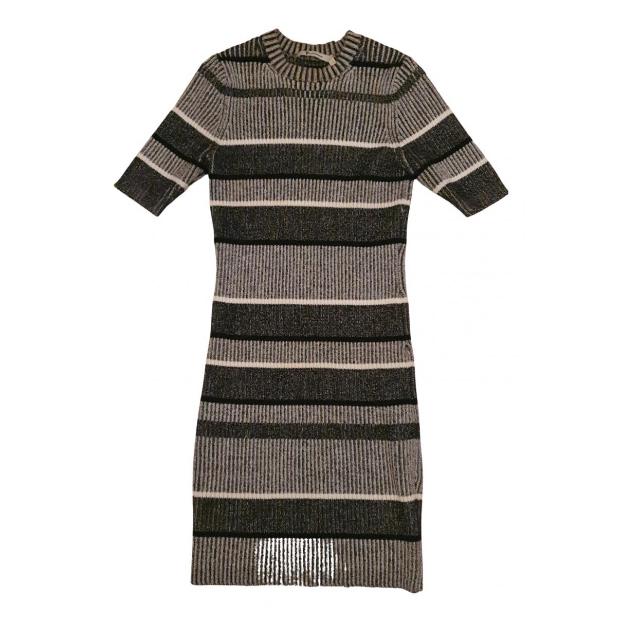 T By Alexander Wang - Robe   pour femme en coton - gris