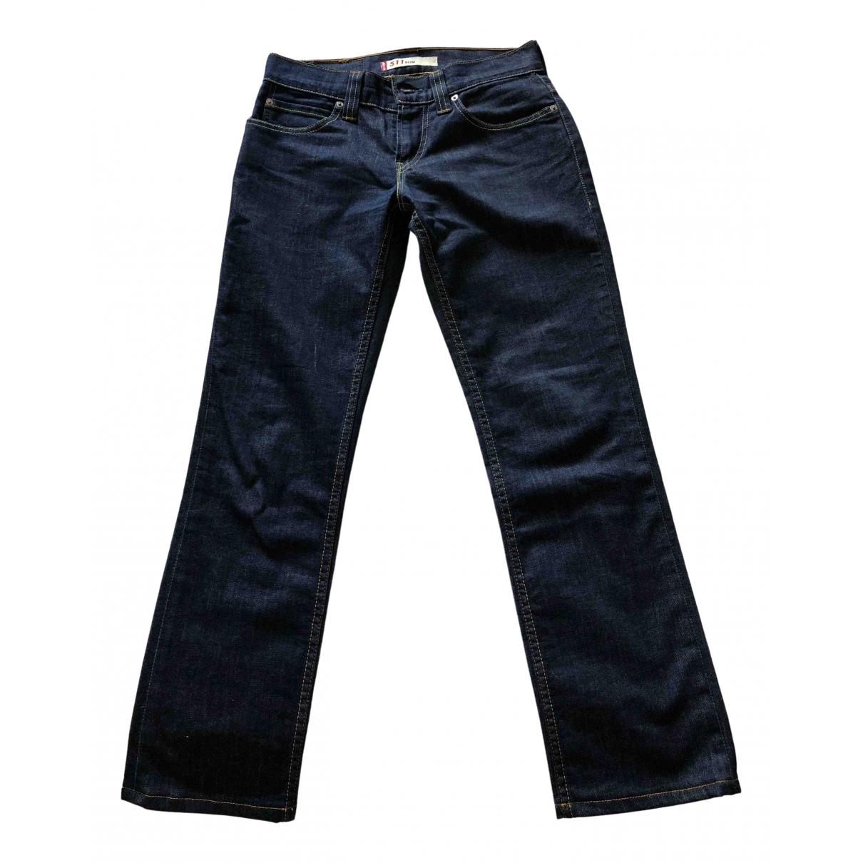 Levi's 511 Blue Cotton - elasthane Jeans for Men 28 US