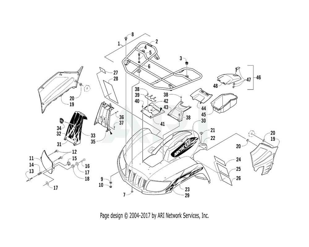 Arctic Cat OEM 2411-756 Decal Fender Front Gm Right Hand (700 Mpro Ltd)