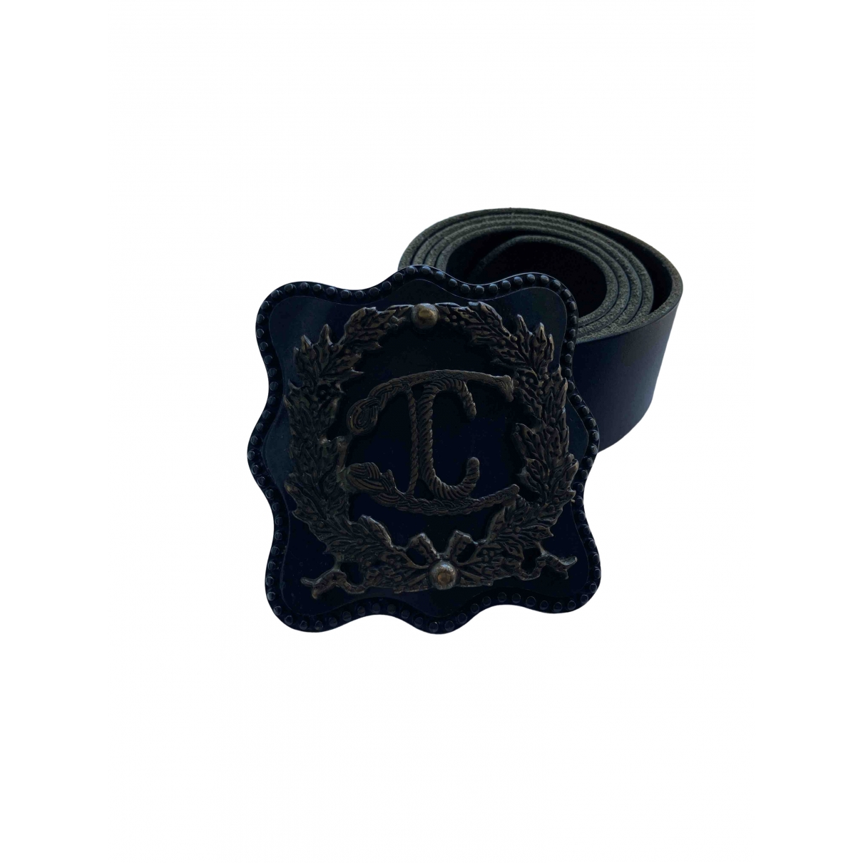 Just Cavalli \N Black Leather belt for Women 95 cm