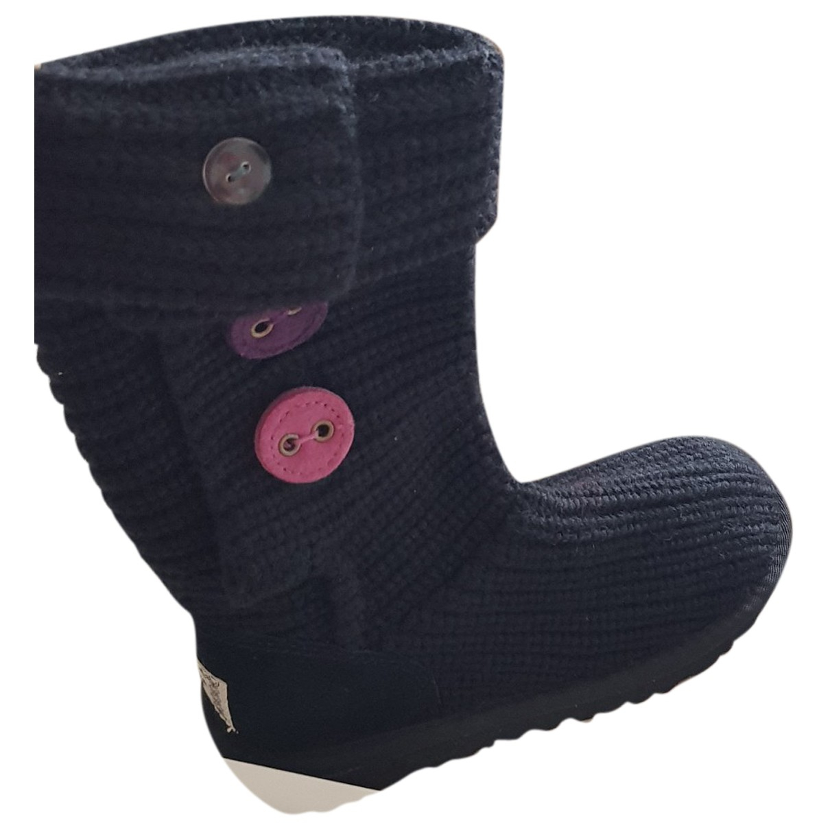 Ugg \N Black Cloth Boots for Kids 31 FR