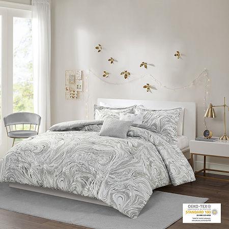 Intelligent Design Natalia Comforter Set, One Size , Gray