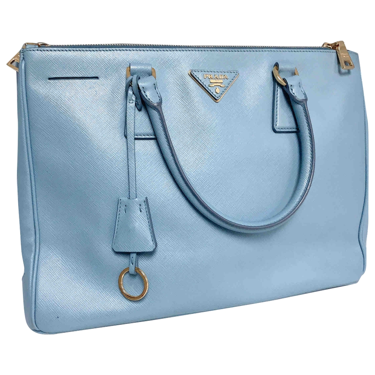 Prada Galleria Handtasche in  Blau Leder