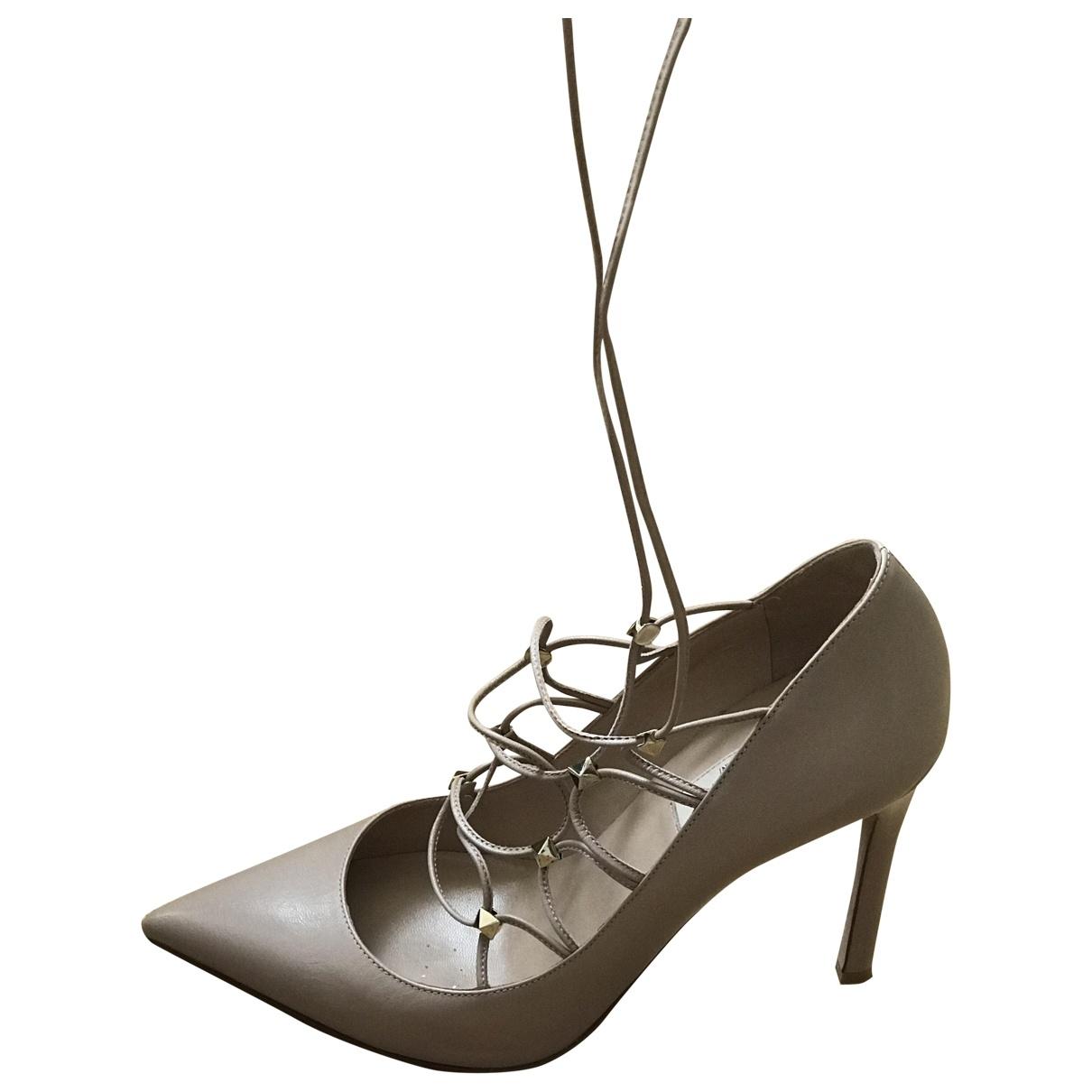 Valentino Garavani \N Beige Leather Heels for Women 38 EU