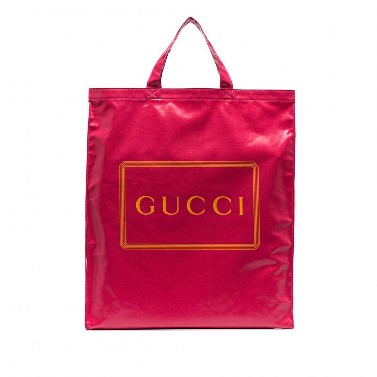Gucci \N Handtasche in  Rot Leinen