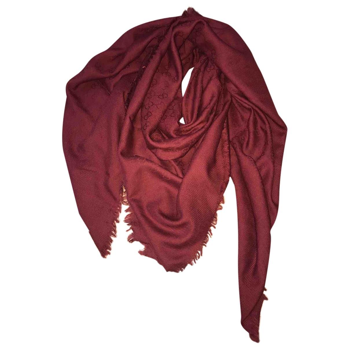 Gucci N Burgundy Wool Silk handkerchief for Women N