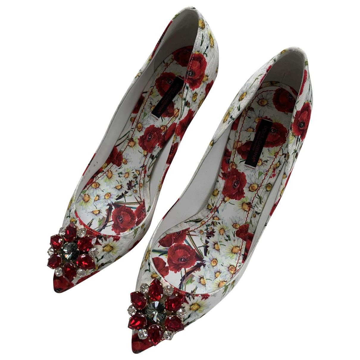 Dolce & Gabbana \N Pumps in  Rot Leinen